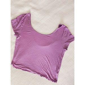 Purple Crop Top T-shirt